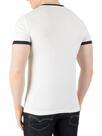 Sergio Tacchini White/Navy Master Archivio T-Shirt