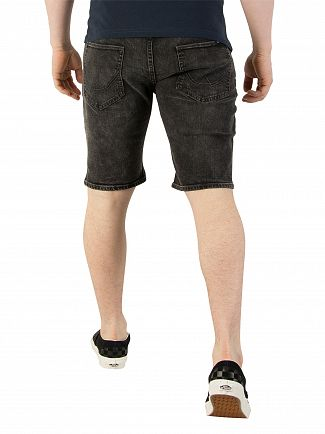Superdry Lost Lake Black Officer Slim Denim Shorts