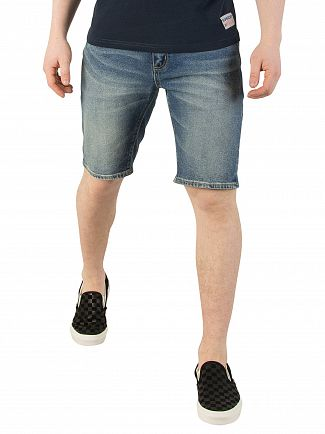 Superdry Mystic Falls Mid Officer Slim Denim Shorts