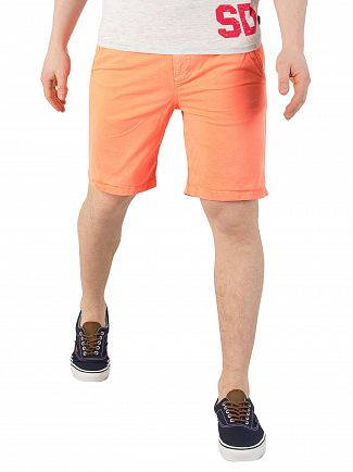 Superdry Hyper Coral Sunscorched Chino Shorts