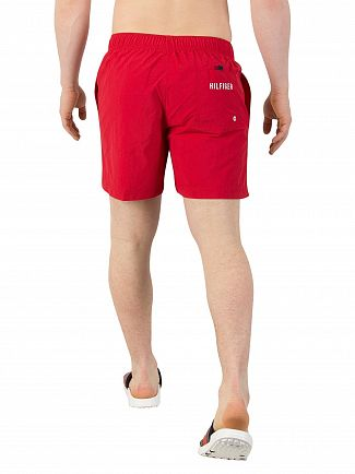 Tommy Hilfiger Tango Red Medium Drawstring Swim Shorts
