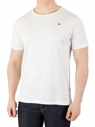 Tommy Hilfiger White Rubber Logo T-Shirt