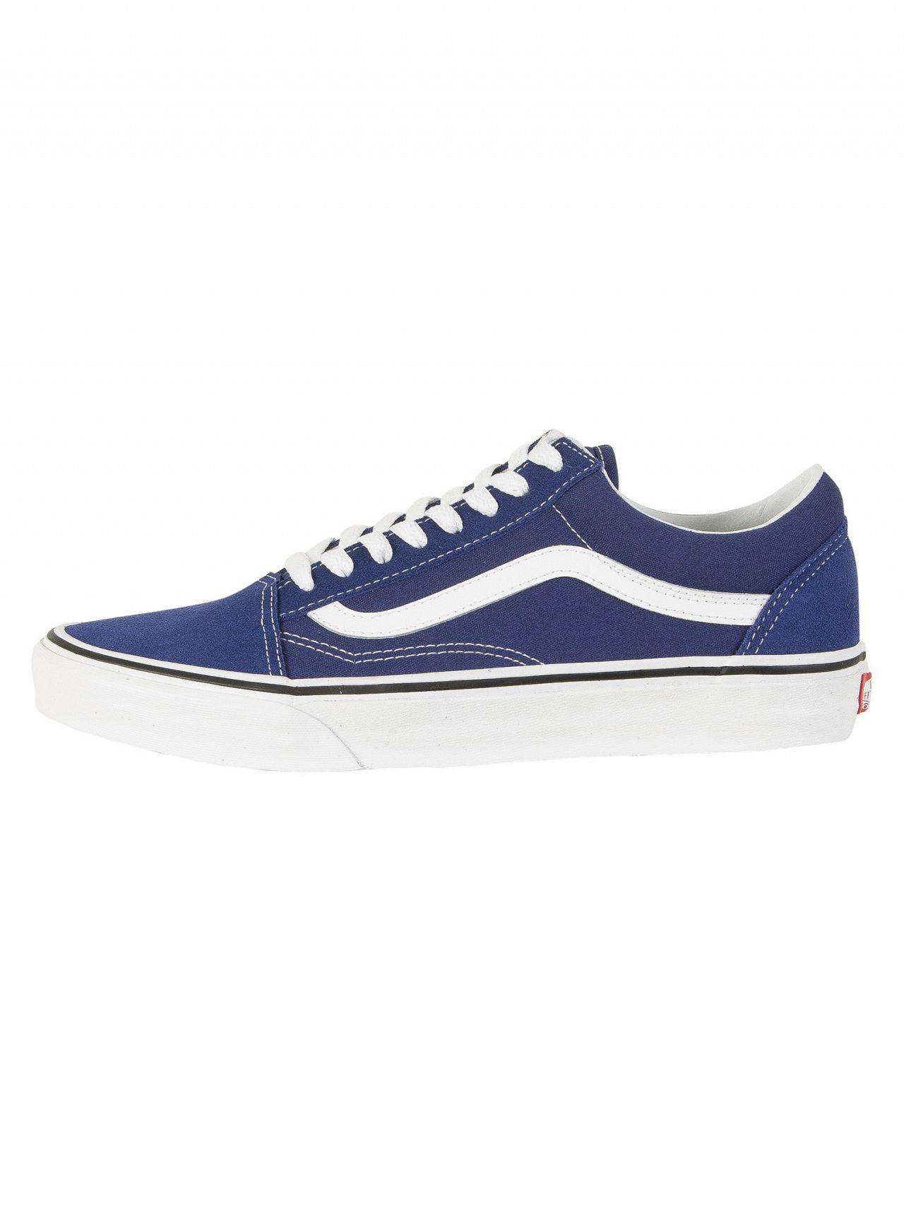 bae9c6ba764 Vans Estate Blue True White Old Skool Trainers