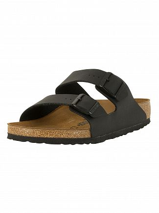 Birkenstock Black Arizona Two Strap Sandals
