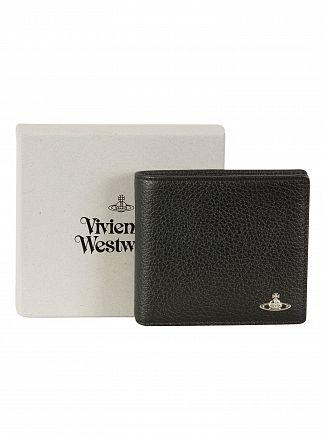 Vivienne Westwood Black Milano Billfold Wallet