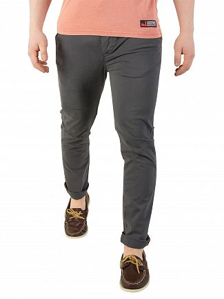 Superdry Graphite Blue International Chino Slim Straight Fit Lite Pant