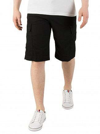 Carhartt WIP Black Rinsed Regular Cargo Shorts