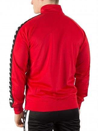 Kappa Dark Red/Black Anniston Slim 222 Banda Track Jacket