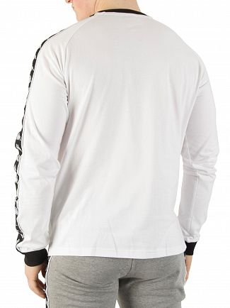 Kappa White/Black Authentic Dixon Longsleeved Slim T-Shirt