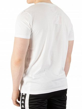 Kappa White/Blue Authentic Estessi Slim T-Shirt