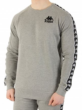 Kappa Grey Melange/Black Authentic Hassan Slim Fit Sweatshirt