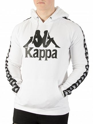 Kappa White/Black Authentic Hurtado Slim Pullover Hoodie
