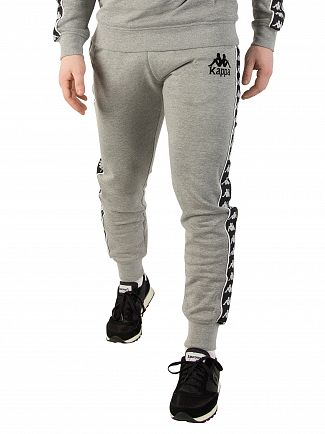 Kappa Grey Melange/Black Authentic Lucio Slim Joggers