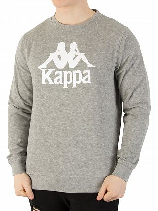 Kappa Grey Melange Authentic Zemin Slim Sweatshirt