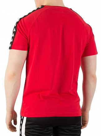 Kappa Dark Red/Black Coen 222 Banda Slim T-Shirt