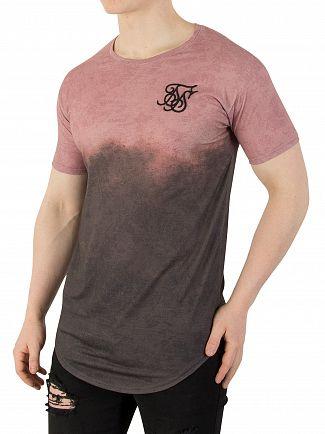 Sik Silk Antique Subliminal Curved Hem Faded T-Shirt