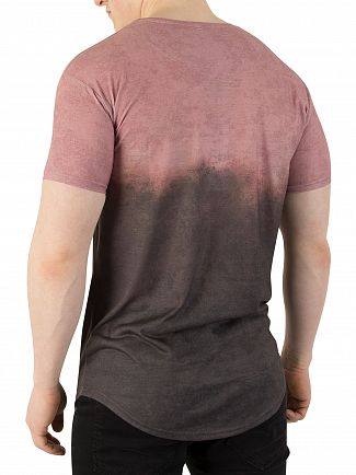Sik Silk Antique Subliminal Curved Hem Faded T-Shirt