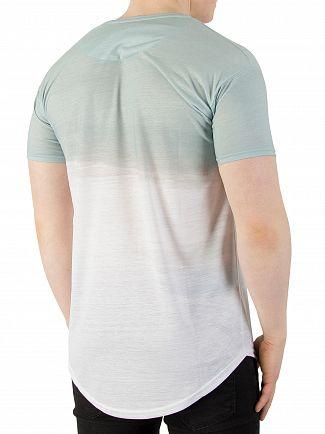 Sik Silk Powder Blue Curved Hem Washout T-Shirt