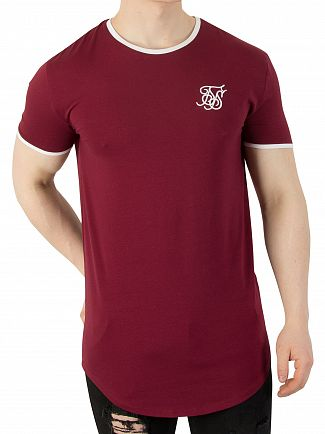 Sik Silk Burgundy Heritage Gym T-Shirt