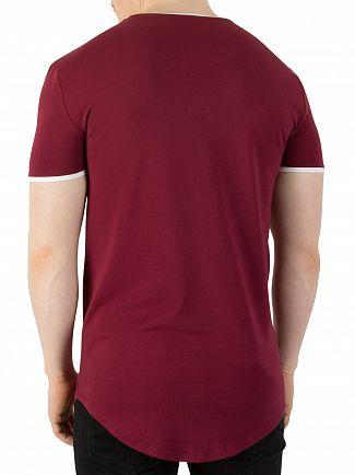 Sik Silk Burgundy Heritage Gym T-Shirt