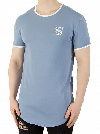 Sik Silk Faded Denim Heritage Gym T-Shirt