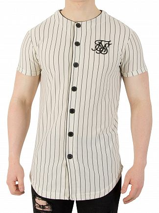Sik Silk Classic Stripe Loop Back Button Through Sweatshirt