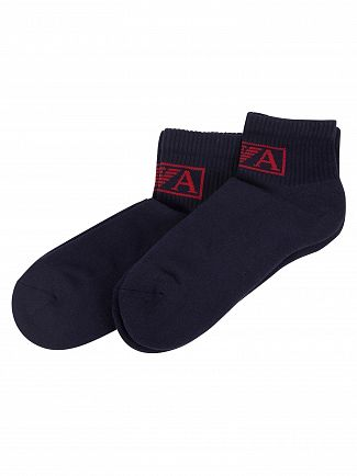 Emporio Armani Blue 2 Pack Sponge Inside Socks