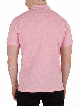 Gant Pink Melange The Original Pique Rugger Polo Shirt