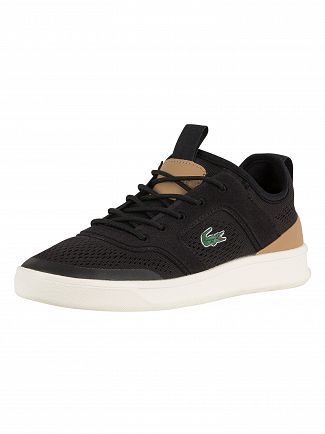Lacoste Black/Light Tan Explorateur Light 2181 CAM Trainers
