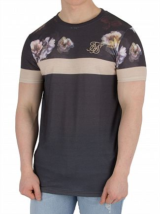 Sik Silk Antique Rose Curved hem Sports T-Shirt