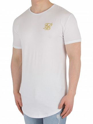 Sik Silk White/Gold Gym T-Shirt