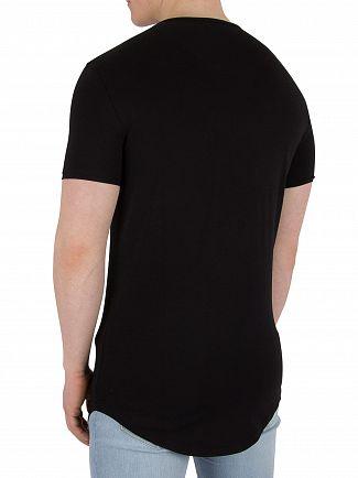 Sik Silk Black/Gold Gym T-Shirt