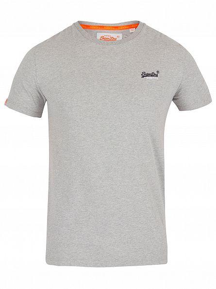 Superdry Grey Marl Orange Label Vintage Logo T-Shirt