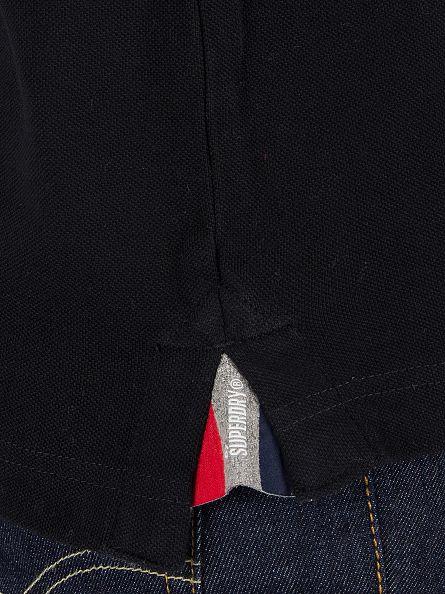 Superdry Black Classic Pique Logo Polo Shirt