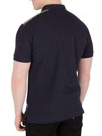 Aquascutum Navy Hill Pique Polo Shirt