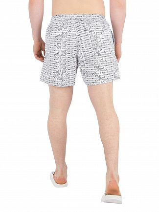 EA7 White Sea World Swim Shorts
