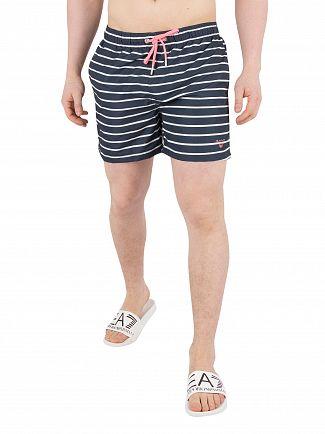 Gant Navy Breton Stripe Swim Shorts