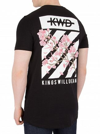 Kings Will Dream Black Staten Floral T-Shirt