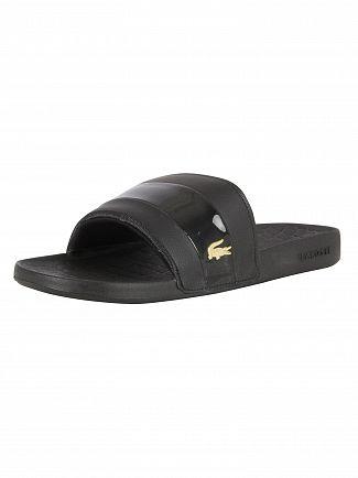 Lacoste Black/Gold Fraisier 118 1 U CAM Sliders