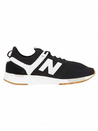 New Balance Black/White 247 Mesh Trainers