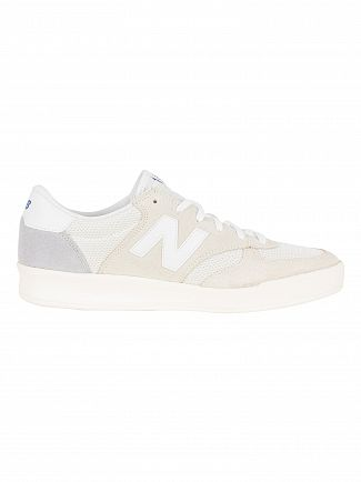 New Balance White 300 Suede Trainers