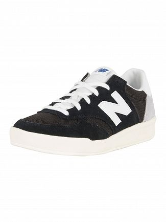 New Balance Black/White 300 Suede Trainers