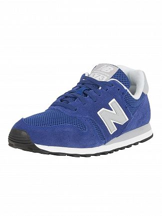 New Balance Blue/Grey 373 Suede Trainers
