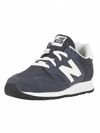 New Balance Outerspace/White 520 Suede Trainers
