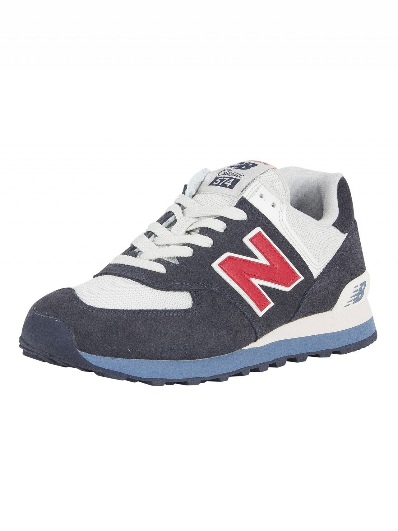 acb45a224edbc New Balance Navy/Red 574 Suede Trainers | Standout