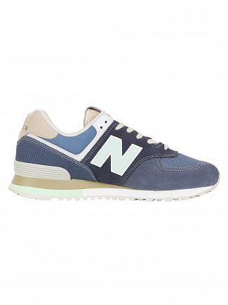 New Balance Navy/Vintage Indigo 574 Suede Trainers