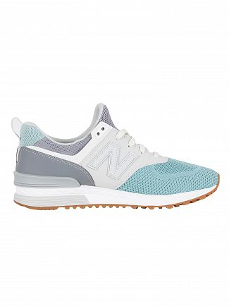 New Balance Gunmetal/Storm Blue 574 Trainers