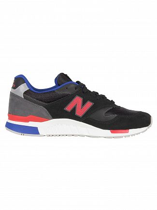 New Balance Black/Magnet 840 Suede Trainers