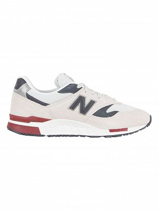 New Balance Pigment/White 840 Suede Trainers