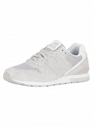 New Balance Silver Mink 996 Suede Trainers